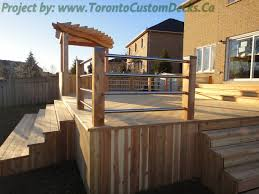 Torontocustomdecks Pergola Deck Railings 7 Toronto Custom Deck Design Pergolas Fences Outdoor Kitchens Landscaping Interlocking