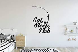 Amazon Com Artstickerscool Boys Room Wall Decal Fishing Wall Decal Eat Sleep Fish Wall Decal Boys Decor Kids Decal Custom Decal Nursery Room Decor Home Kitchen