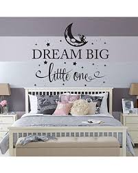 Amazing Deal On Dream Big Little One Fairy Nursery Bedroom Wall Decal Crib Bedding Wall Art World Moon Travel Map Childrens Kids Wall Art Star Decals Quote
