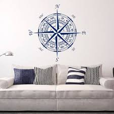 Compass Wall Decal Vinyl Stickers From Fabwalldecals On Etsy