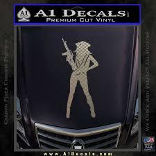 Sexy Machine Gun Chick Ak 47 Decal Sticker A1 Decals