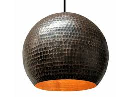 soluna copper globe pendant light rg