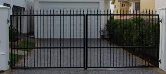 Residential Gate With Spikes For Additional Security Property Gates Metal Driveway Gates Gate Design