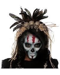 voodoo headdress with skulls as costume