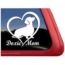 Doxie Mom Dachshund Love Heart High Quality Vinyl Dog Window Decal Walmart Com Walmart Com
