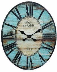 antiquite de paris wood oval wall clock