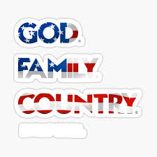 God Family Country Stickers Redbubble
