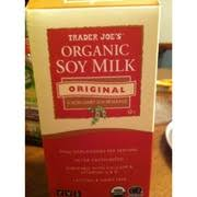 trader joe s organic soy milk