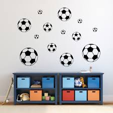 Soccer Ball Wall Decals Set Soccer Wall Decor Sweetums Signatures