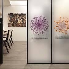 Flower Wall Sticker Coffee Shop Transparent Glass Film Window Stickers Decoration Office Vinyl Mural Art Decal Quote Home Decor Decorative Art Print Decor Art Galleriesart Prints Home Decor Aliexpress