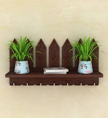 Buy Brown Picket Fence Key Holder By Lycka Online Magazine Holders Magazine Holders Home Decor Pepperfry Product