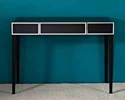 couture black console table with mirror