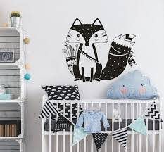 Art Home Decor Nordic Style Tribal Fox Wall Decal Woodland Arrow Cute Triabl Fox Wall Sticker For Kids Nursery Room Decor A0001 Wall Stickers For Kids Wall Stickerstickers For Aliexpress