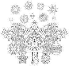 Kleurplaat Kerst Vectoren Illustraties En Clipart 123rf