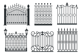 Metal Iron Gates Grilles Fences Vector Set By Microvector Thehungryjpeg Com