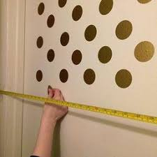 Gold Wall Decal Dots 200 Decals Easy Peel Stick Safe On Walls Paint Removable Metallic Vinyl Polka Dot D Polka Dot Decor Wall Decals Gold Wall Decals