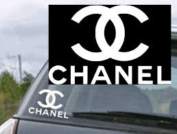 Chanel Logo 4 X 6 Top Quality White Vinyl Decal Sticker For Car Window Laptop Vinyl Decals Girly Car Accessories Car Stickers