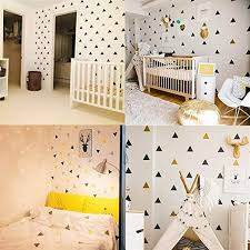 Amazon Com Baby Boy Room Triangles Wall Stickers Simple Shape For Children Room Art Decorative Sticker Kids Nursery Wall Decals Home Decor Color Blush Size 8x8cm 24 Dots Home Kitchen