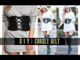 diy corset belt easy you