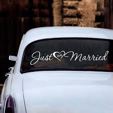 Just Married Heart And Initials Decal Wedding Car Window Personalized Initial Vinyl Art Sticker Custom Name Wedding Decoration Wall Stickers Aliexpress