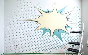 Pop Art Wall Painted Bedroom 2 Paint Yourself A Smile