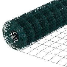 Green Crimped Garden Fencing