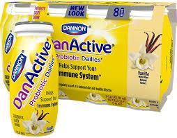 danactive vanilla probiotic dairy drink
