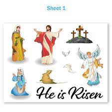 Resurrection Easter Window Clings Holiday Decorations Colonel Pickles Novelties