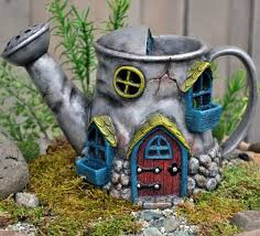 old watering can fairy house my fairy