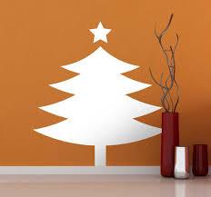 Simple Christmas Tree Wall Sticker Tenstickers