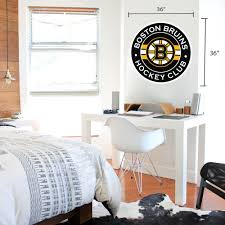 Boston Bruins 36x36 Team Stripe Logo Repositional Wall Decal Hhofecomm