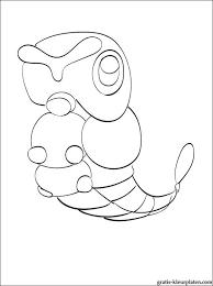Kleurplaat Met Pokemon Caterpie Gratis Kleurplaten