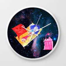 The Universe Is Our Home Kids Room Up To The Space Cosmos Wall Clock By Azima Society6