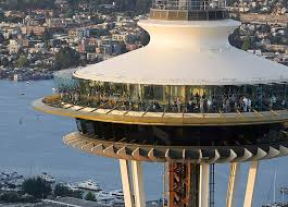 space needle with all glass interiors