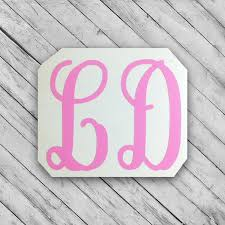 Two Letter Monogram Vinyl Decal 2 Letter Monogram Sticker Monogrammed Decal Preppy Sticker Person Initials Decal Monogram Stickers Monogram Vinyl Decal