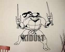 Teenage Mutant Ninja Turtles Cartoon Vinyl Sticker Decal Wall Sizes