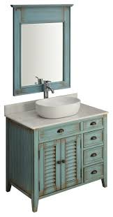 blue abbeville vessel sink vanity
