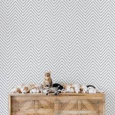 Nursery Wallpaper With Chevron Pattern By Livettes