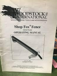 Shop Fox W1410 Fence With Standard Rails For Sale Online Ebay