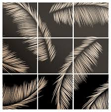 Deny Designs Kelly Haines Monochrome Palm Leaves Wood Wall Mural Tropical Wall Decals By Deny Designs