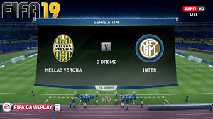FIFA 19 | Verona vs Inter | Serie A 2019/20 | Gameplay Full Match - YouTube