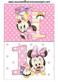 Invitaciones De Minnie En Su Primer Ano Para Imprimir Gratis