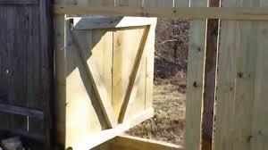Revolving Hidden Wood Gate Youtube
