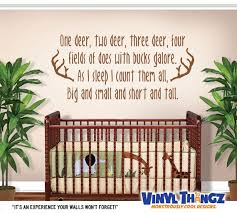 Hunting Wall Decal Boys Room Decor Deer Wall Decal Baby Shower Gift One Deer Two Deer Vinyl D Wall Decal Boys Room Baby Room Decals Nursery Wall Decals