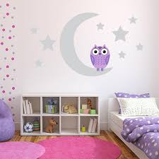 Purple Owl Wall Decals Owl Wall Stickers For Nursery Kids Room Wall Decals Colorful Kids Room Purple Baby Rooms