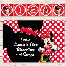 Kit Imprimible Minnie Mouse Rojo Candy Cumple Invitacion 450