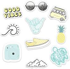 Amazon Com Stickers For Water Bottles 10 Pack Cute Waterproof And Perfect For Laptop Hydro Flask Yeti Car Phone Trendy Decal Water Bottle Stickers Quality Vinyl Vsco Aesthetic Sticker Pack Made In Us