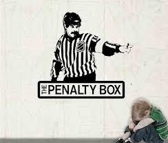Hockey Referee Wall Art The Penalty Box Hockey Decal Boys Etsy