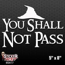 None Shall Pass Black Knight Monty Python Car Window Laptop Decal Sticker 6 89 Picclick