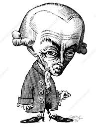 Immanuel Kant, caricature - Stock Image - C002/6107 - Science Photo Library